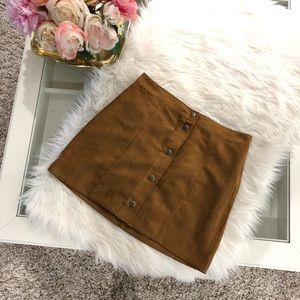 Dresses & Skirts - Tan faux suede skirt